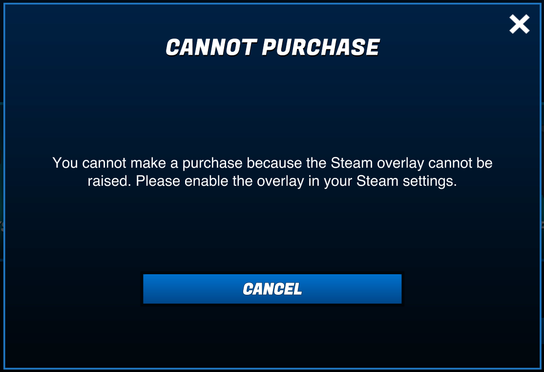 Cannot Purchase In-Game (Steam Overlay) – Wavedash Games